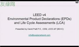 LEED v4 Environmental Product Declarations (EPD) and Lifecycle Analysis (LCA)