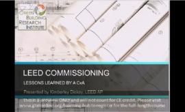LEED Commissioning Lessons Learned by a CxA